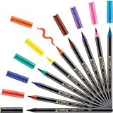 edding 1340 Pinselstift - 10er Set - bunte, leuchtende Farben - flexible Pinselspitze - Filzstift zum Malen, Schreiben und Zeichnen - Bullet Journals, Hand-Lettering,...