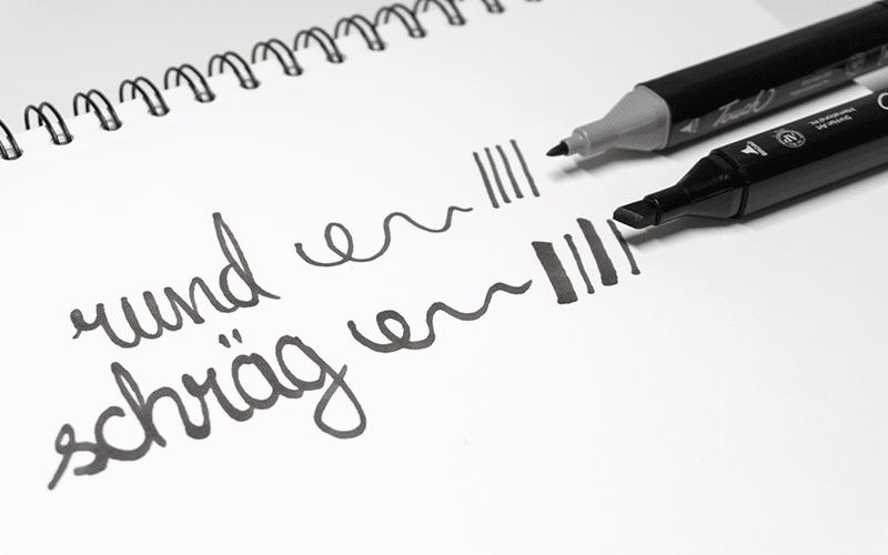 Verschiedene Stiftspitzen