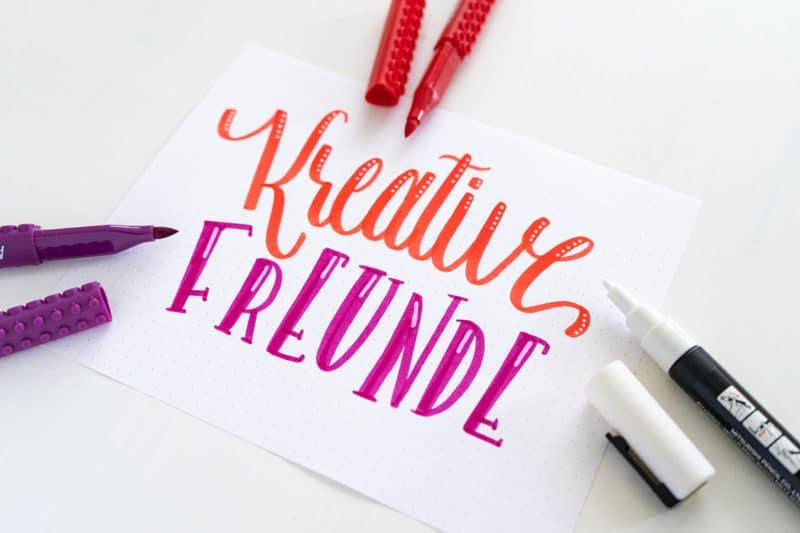 Handlettering - Kreative Freunde