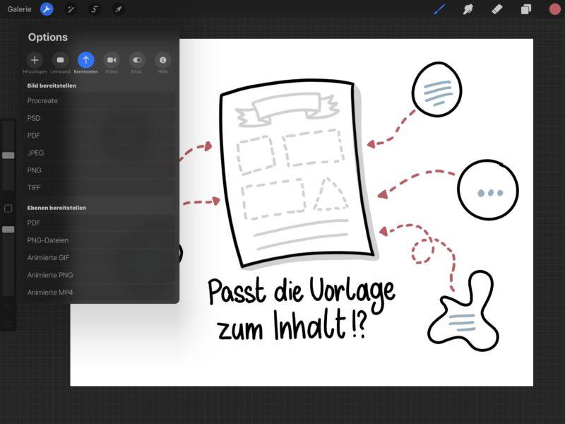 Animation exportieren
