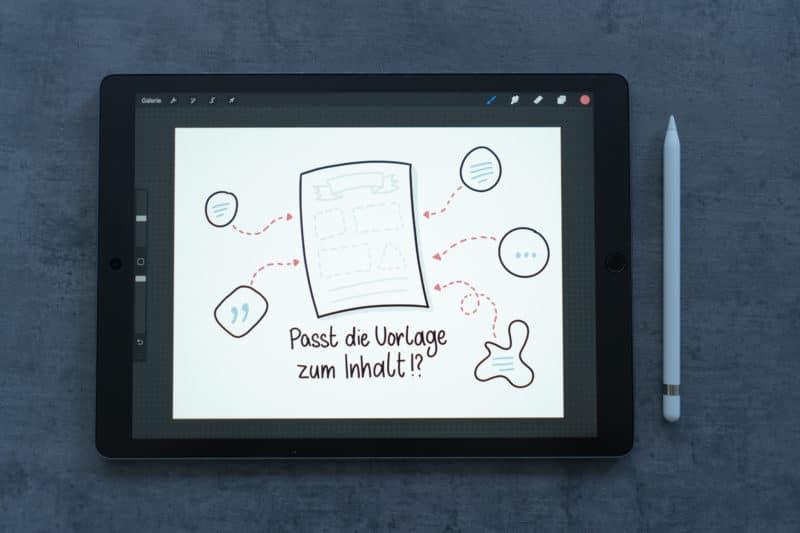 Sketchnote bereit zur Animation