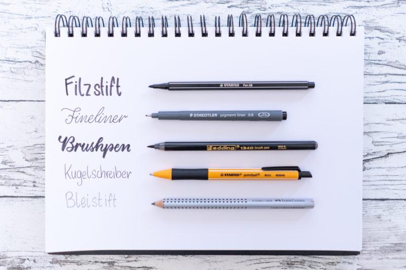 Verschiedene Stifte