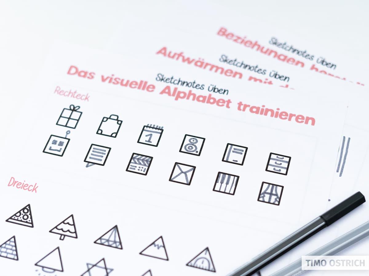 Sketchnotes Übungsblätter