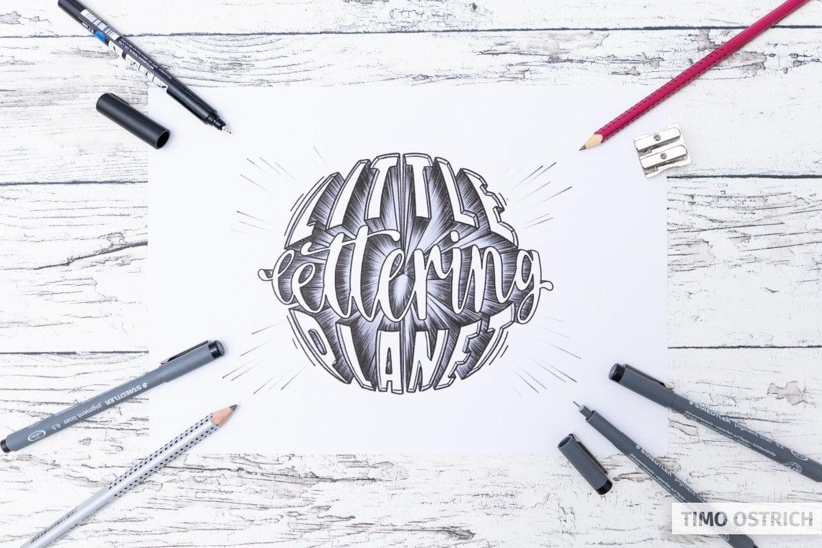 Handlettering und Zeichnen