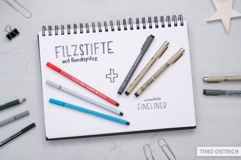 Praktische Stifte für Sketchnotes