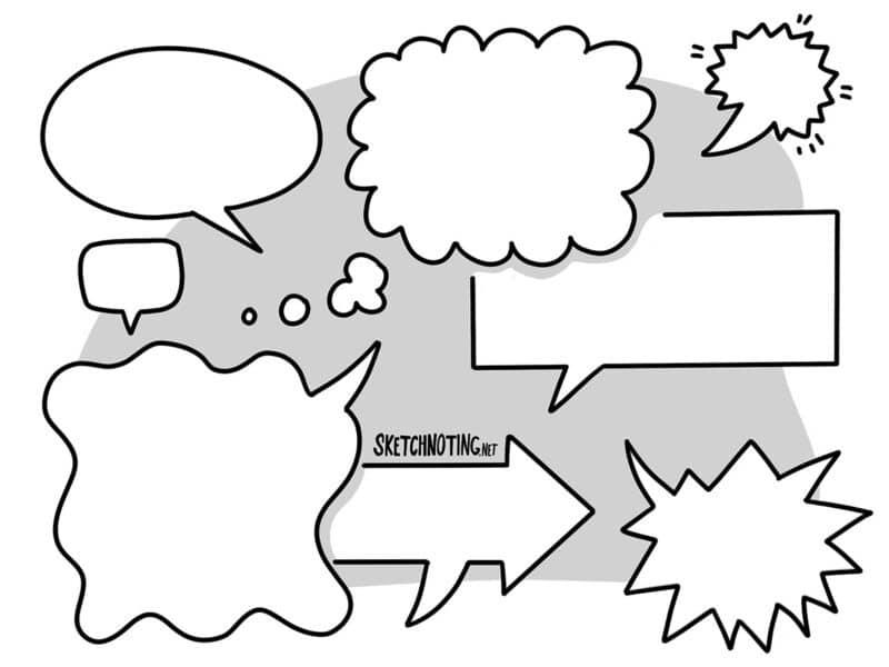 Sprechblasen sind besonders kommunikativ